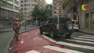 Terra acompanha CET em fiscalização de ciclovias em SP Video: