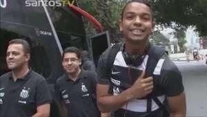 Veja os bastidores do Santos na vitória contra o Goiás Video: