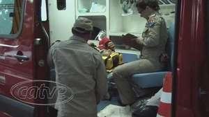 Motociclista se fere em acidente no bairro Universitário Video: