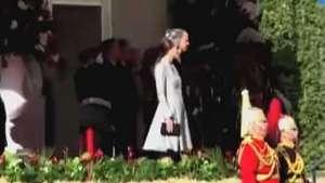 Kate faz primeira aparição após anúncio de gravidez Video: