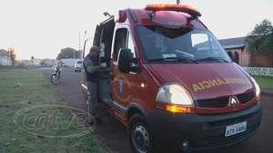 Brasmadeira: Motociclista se fere em acidente Video: