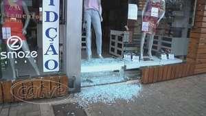 Loja de roupas é arrombada no centro de Cascavel Video: