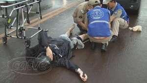 Motociclista fratura perna em batida traseira na BR 369 Video: