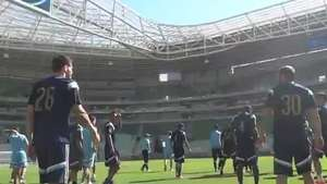 Casa nova! Palmeiras faz primeiro treino no Allianz Parque Video: