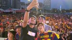 Estrela do Barcelona, Neymar vira febre no Japão Video: