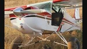 Piloto faz pouso em plantação após pane, em Pato Branco Video: