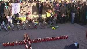 Um ano de protestos na Ucrânia: vítimas são homenageadas Video: