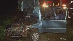 Mulher perde controle de direção e capota veículo na PR 180 Video: