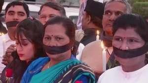 Protesto marca 2 anos de estupro coletivo de mulher na Índia Video: