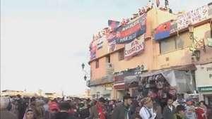 Torcida do San Lorenzo invade o Marrocos e mostra confiança Video: