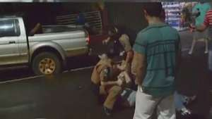Policial Militar é agredido durante abordagem em Corbélia Video:
