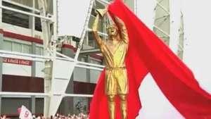 Inter lança estátua de Fernandão e emociona viúva e torcida Video: