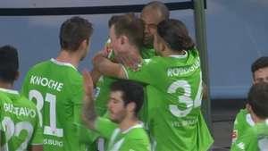 Cabeçada de ouro! Naldo salva Wolfsburg pelo 2º jogo seguido Video: