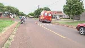 Carro e moto se envolvem em acidente na Barawanas Video: