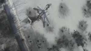 Drone mostra destruição e abandono de aeroporto na Ucrânia Video: