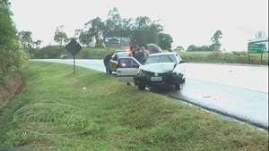 Motorista alcoolizado provoca acidente entre quatro carros na BR 369 Video: