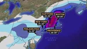 Nova York se prepara para nevasca histórica Video: