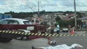 Motociclista morre após bater em caminhão estacionado em Curitiba Video: