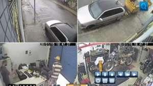 Câmeras flagram assalto em oficina no interior de SP Video: