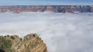 "Vídeo acelerado mostra ""mar de nuvens"" no Grand Canyon Video:"