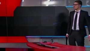 Rapaz invade emissora de TV com réplica de pistola Video: