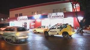 Câmeras de segurança flagraram ação de bandidos em farmácia Video: