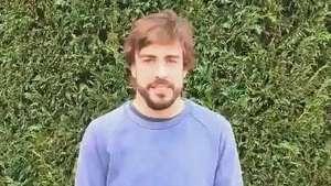 Alonso agradece por apoio e diz estar completamente bem Video: