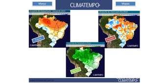 Previsão da chuva para o Brasil em março Video:
