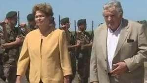 Mujica e Dilma inauguram parque eólico no Uruguai Video: