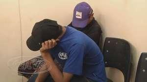 PM apreende três rapazes com produtos de furto Video: