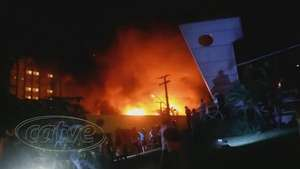 Incêndio destrói boate na Gleba Palhano em Londrina no Paraná  Video: