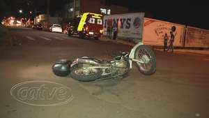 Motociclista fica ferido em acidente de trânsito na avenida Assunção Video: