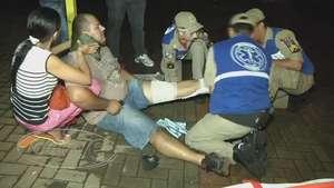 Motociclista fica ferido em acidente de trânsito na avenida JK Video: