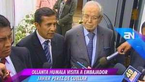 Humala compromete a Pérez de Cuellar para ser su consejero Video:
