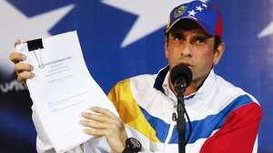 Capriles impugna elecciones presidenciales en Venezuela Video: