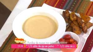 Fondue de queso con papas adobadas Video: