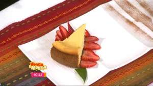 Pastel de queso con pasas Video: Azteca America