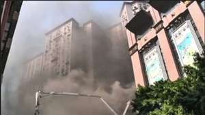 Un incendio arrasa un almacén en China Video: