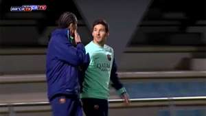 Messi regresa a los entrenamientos del Barcelona Video: