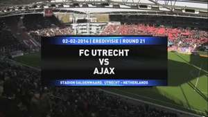 Ajax empata 1-1 con Utrecht Video: