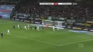Wolfsburgo derrota 3-1 al Leverkusen en casa Video: