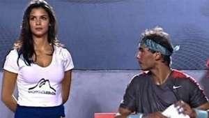 Modelos brasileñas desconcentran a Nadal en el Open de Río Video: