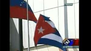 Bandera de Cuba se cae en la llegada de Raúl Castro a Venezuela Video: