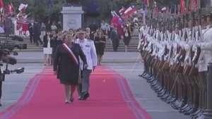 El emotivo regreso de Michelle Bachelet como Presidenta a La Moneda Video: