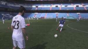 Movistar hace real el sueño de jugar en el Bernabéu Video: