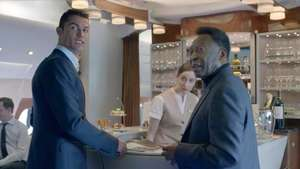Cristiano Ronaldo y Pelé graban divertido comercial Video: