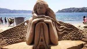 Concurso de esculturas de arena en México cumple 40 años Video: