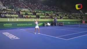 Wozniacki sin problemas pasa a cuartos de final en Abierto de Monterrey Video: