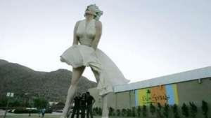 Preparan el traslado de una Marilyn Monroe de ocho metros Video: