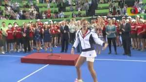Jovana Jaksic pone la fiesta en la final del Abierto de tenis Monterrey Video: